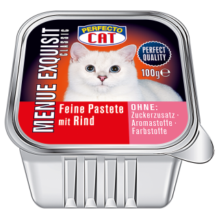 Perfecto Cat Menue Exquisit 100g - Rind