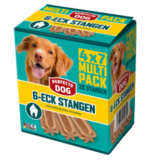 Perfecto Dog 6-Eck Stangen Multipack 720g