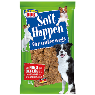 Perfecto Dog Soft Happen mit Rind & Geflügel 200g