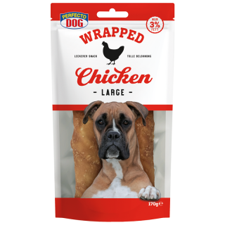 Perfecto Dog Wrapped Chicken Sticks Large 170g